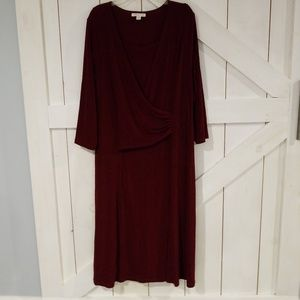Coldwater Creek 2X 20w-22W holiday dress ruched